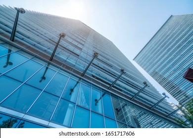 Building street and office building of Lujiazui Financial Distri