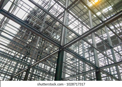 Building structures made of steel with a solid strength.