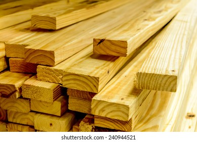 building supplies, stacked wood boards