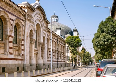 Building of the synagogue in Sofia, Bulgaria