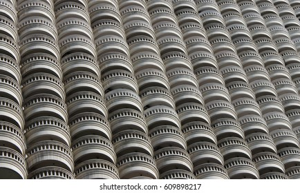 Building terrace pattern design. Abstract design. Architecture view.