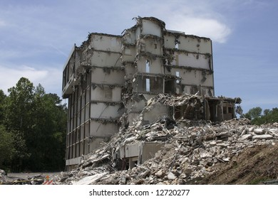 Building that has been destroyed
