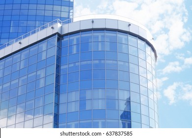 Building with tinted windows
