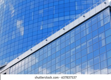 Building with tinted windows as background