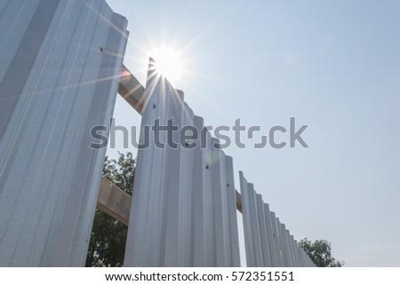 building under construction sunbeam stock photo edit now 572351551