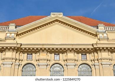 Building of the university in Debrecen, Hungary