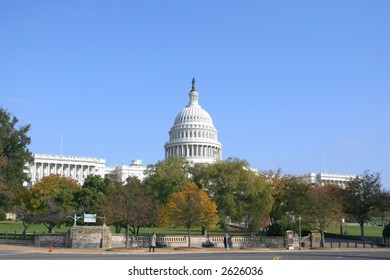 The building of US capitol in Washington DC