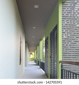Building walkway in modern style