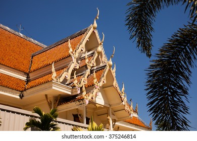 Building at Wat Phra Sing temple in Chiangmai, Northern Thailand