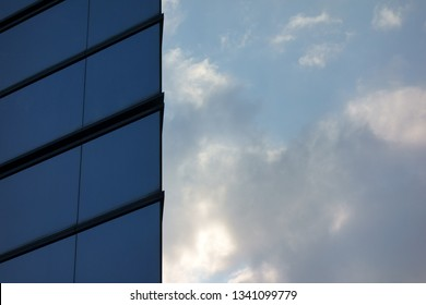 Building window and blue sky