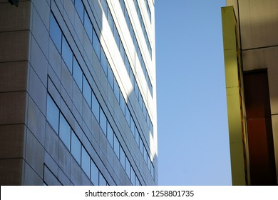 Building window and exterior wall
