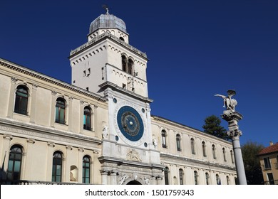 Building witht the astronomical clock on Piazza dei Signori in Padua, Italy