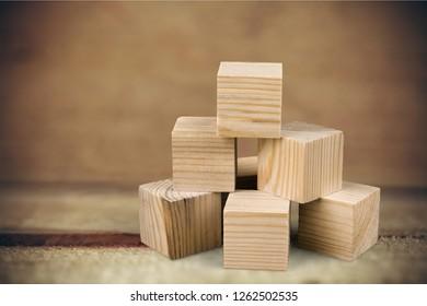 Building wooden blocks