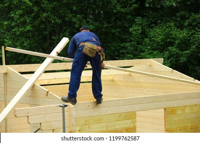 building a wooden house
