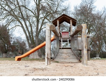 Building wooden playground with diverse background Grove