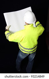 Building Worker with plan