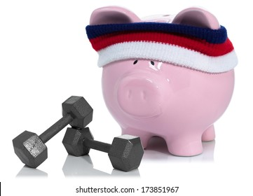 Building your savings, piggy bank working out