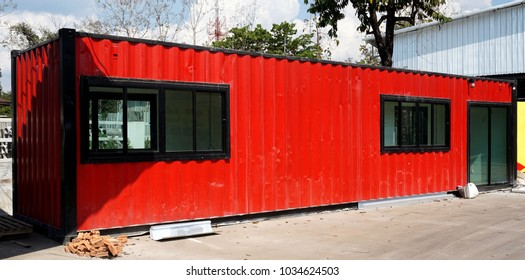 Building,modify old steel container to modern house