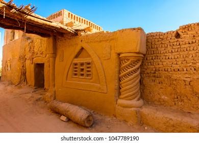 Buildings in Al Qasr, old village in Dakhla Desert, Egypt