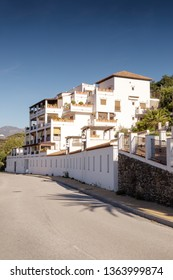 buildings in almunecar town on the spains south coast.