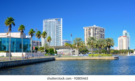 Buildings along the skyline of St. Petersburg, Florida.