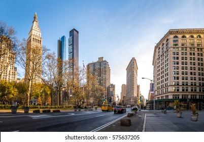 Buildings around Madison Square Park - New York City, USA