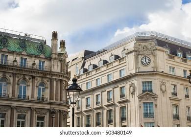 Buildings around Trafalgar square, London UK