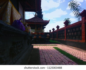 Buildings And The Atmosphere When Inside Dalem Temple Ringdikit In The Ceremony