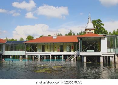 Buildings in balneological resort. Heviz, Hungary