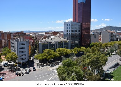 Buildings in Barcelona city with clear sky