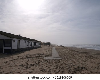 buildings at the beach of katwijk