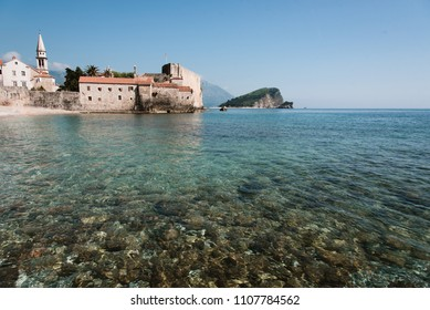 Buildings and Blue Ocean Water, Montenegro