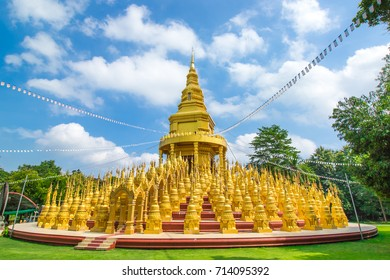 Buildings of Buddhism. this is top 500 Pagoda at  Wat Pa Sawang Boon Wilderness temple. Unuseen in Saraburi Province of Thailand.