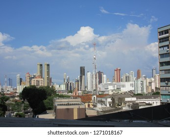Buildings in the central area of Belem, Brazil
