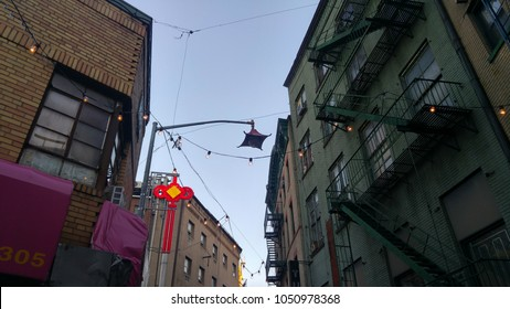 Buildings in Chinatown in New York