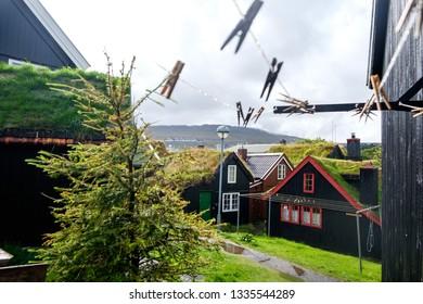 Buildings in the city centre of Torshavn, Faroe Islands