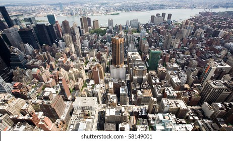 Buildings and City Skyline of a huge Metropolis