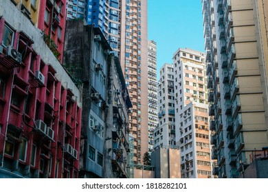 buildings and cityscape in Hong Kong city