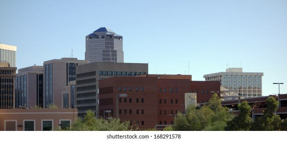 Buildings crowding in Tucson downtown Arizona