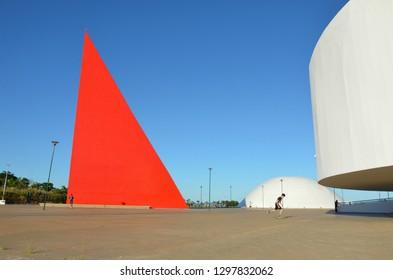 Buildings of Cultural Center in Goiania, Brazil