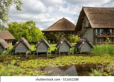 Buildings in Danube Delta, Romania.