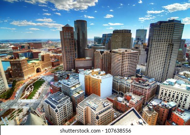 Buildings in downtown Boston Massachusetts