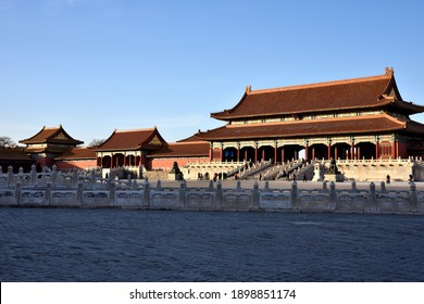 The buildings in the Forbidden City have a long history and rich culture, Beijing, China