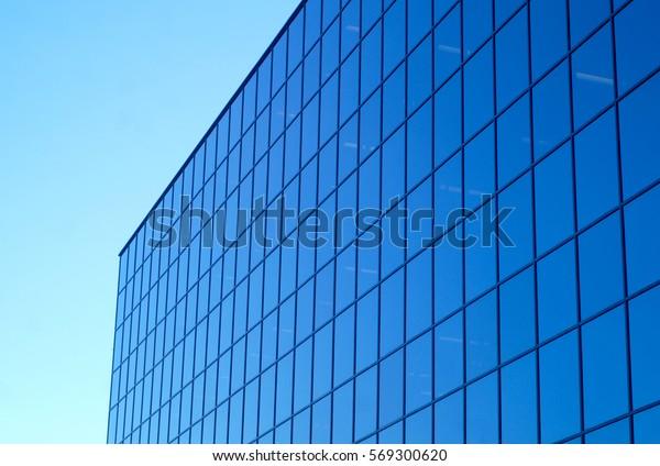 buildings glass window perspective skycraper