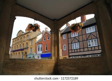 Buildings in High Street of Ilminster, Somerset