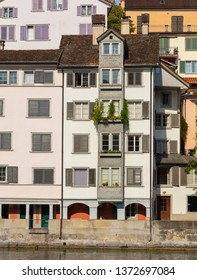 Buildings of the historic Schipfe district of the city of Zurich, Switzerland.