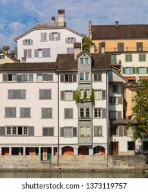 Buildings of the historic Schipfe district in the city of Zurich, Switzerland.