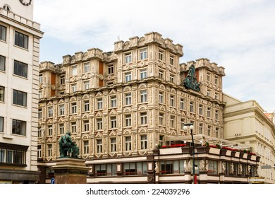 Buildings  and houses in the historical center of Prague: the Adria Palac