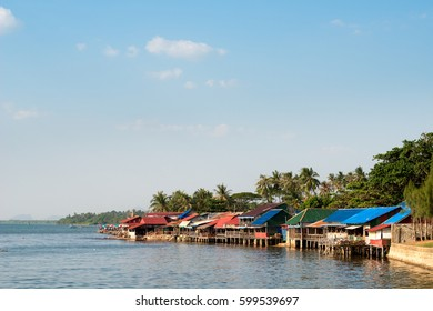 Buildings of the Kep Crab Market, Cambodia