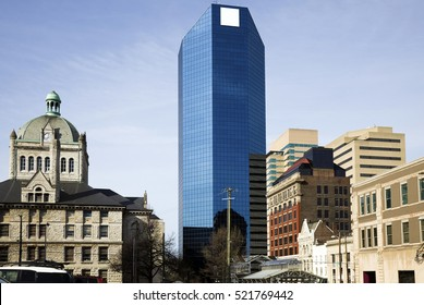 Buildings in Lexington, Kentucky - old and new.